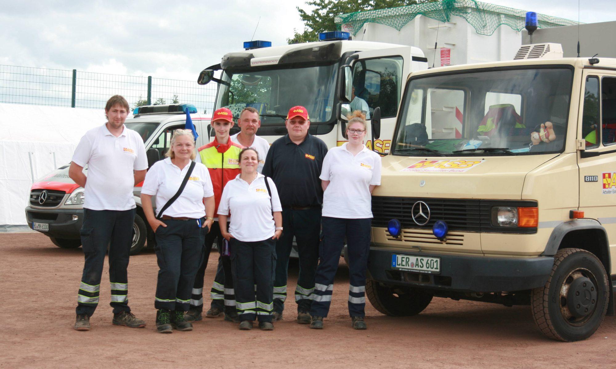 ASB Landesverband entsendet Kräfte in das Katastrophengebiet an die Ahr – Auch Kräfte des ASB Leer vor Ort.
